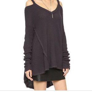 Free people moonshine sweater (charcoal)